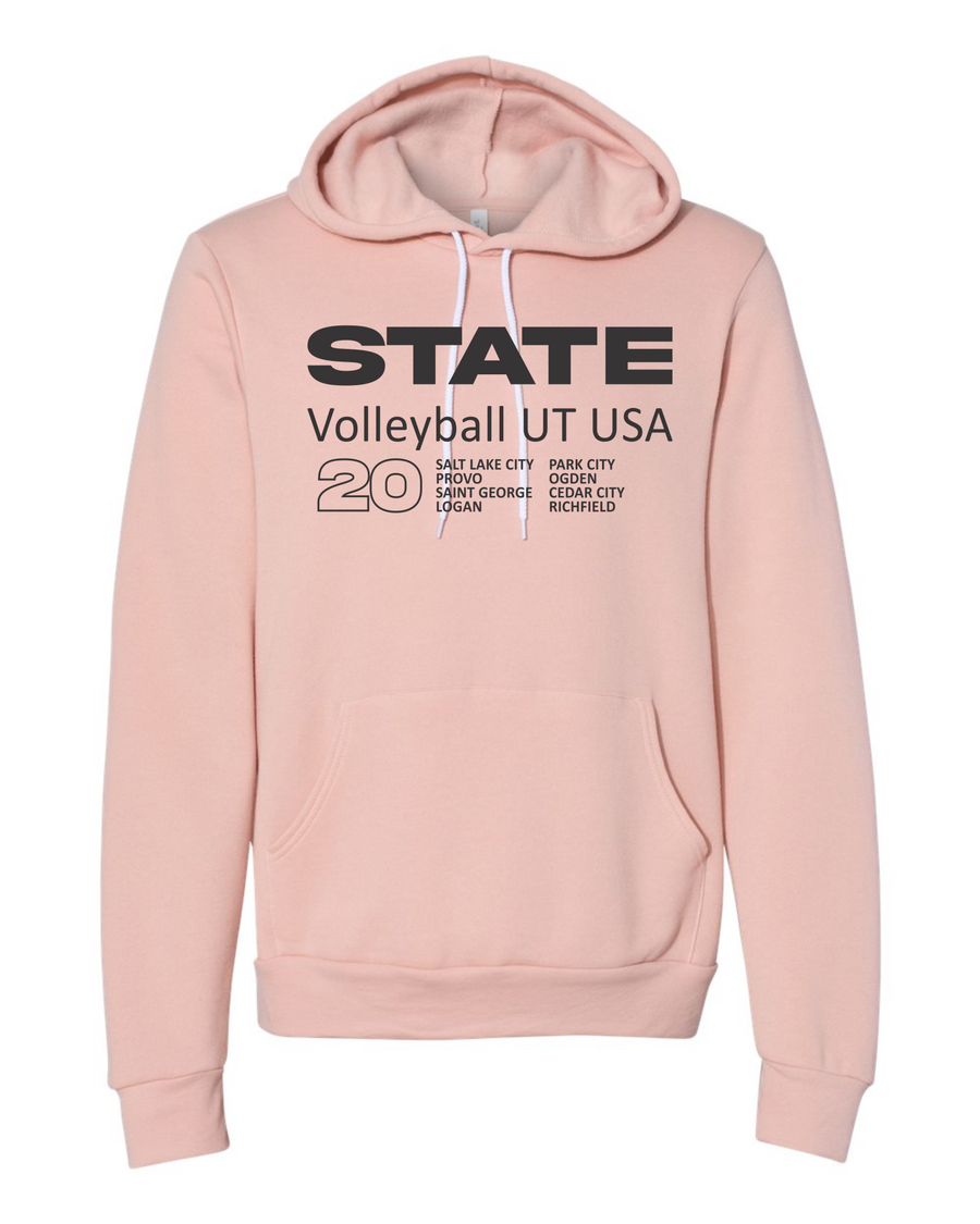 Volleyball Peach Hoodie