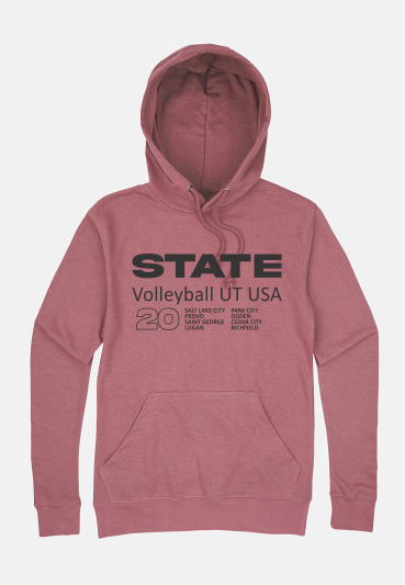 Volleyball Hoodie Mauve