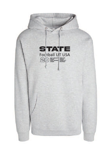 Athletic Grey Football Hoodie