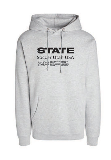 Athletic Grey Soccer Hoodie