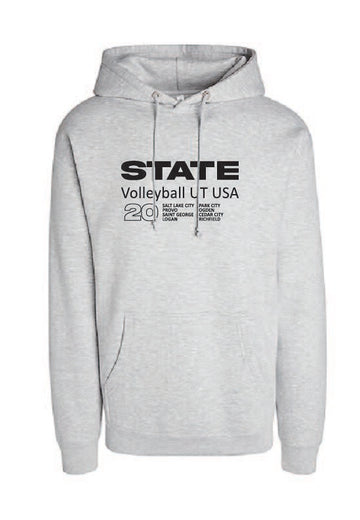 Athletic Grey Volleyball Hoodie