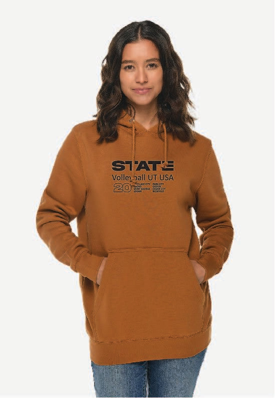 Rust Volleyball Hoodie