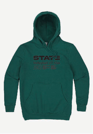 Teal Volleyball Hoodie