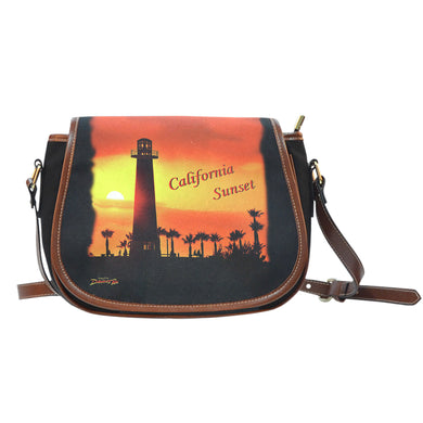 California Sunset Saddle Bag Purse Purse
