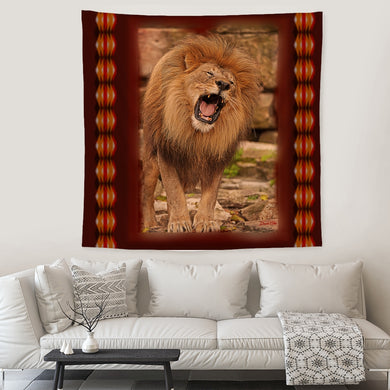 Beautiful Roaring Lion Tapestry