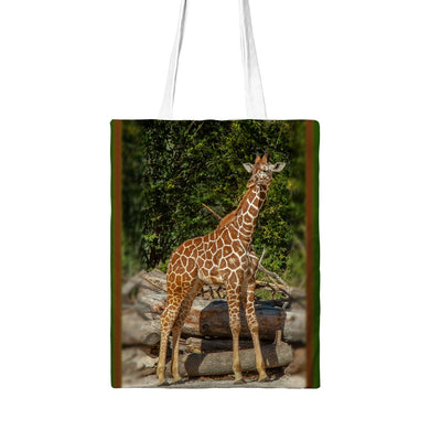 Beautiful Giraffe Styled Tote Bag with Zipper.