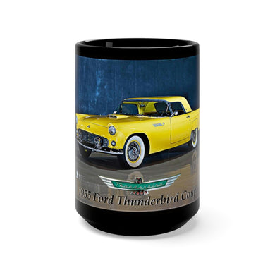 Beautiful 1955 Thunderbird Coupe Black Mug 15oz