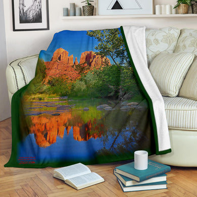Cathedral Rock Sedona Photo Blanket