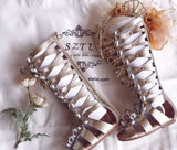 Zinia - Sazzy design gold leather gladiator sandals
