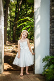 Raven Zia - Arabella tulle flower girl dress with flower decoeation