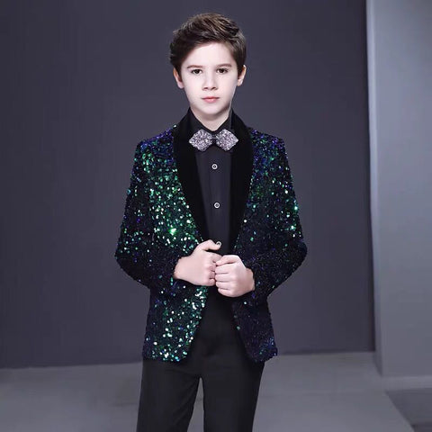 Boys sequins set suits