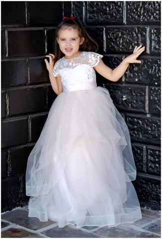 Raven Zia - Isabel Blush pink flower girl dress