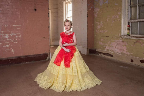 Princess Belle inspired Sazzy design ball gown