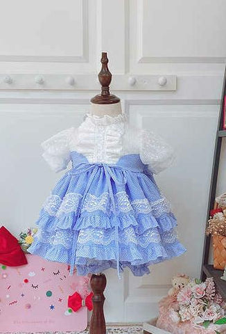 Beth Blue gingham dress
