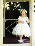 Raven Zia - Layla short sleeves lace tulle Wedding Flower girl dress