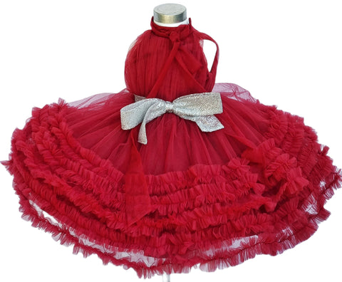 Raven Zia - Vera burgundy tulle dress (made to order)