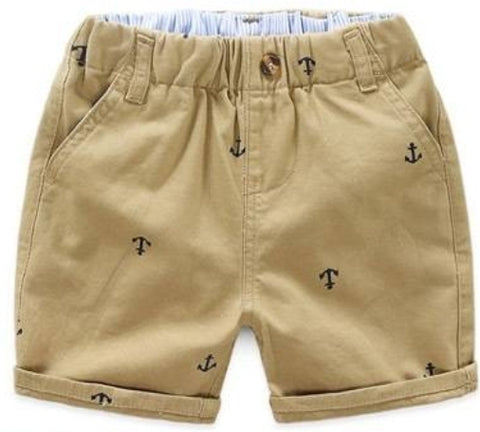 Boys shorts in 3 colours with anchors print