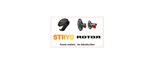 Stryd Run power meter footpod and Rotor bike power meter, INspider, 2INpower, INpower logos