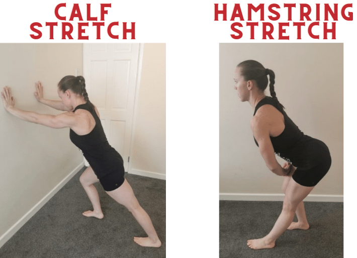 Exercises to prevent and treat shin splints | Common injuries for triathletes and runners | Calf & hamstring stretch