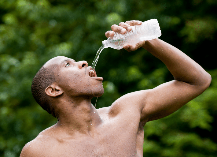 Recovery drinks for rehydration for triathletes