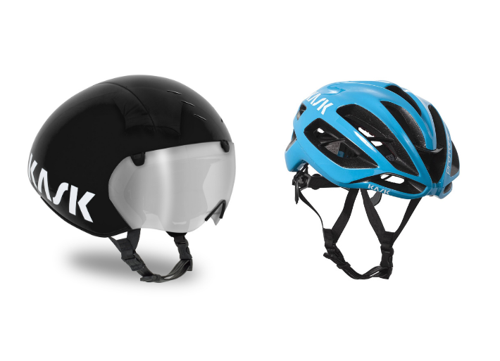 Kask Bambino Pro and Kask road helmet
