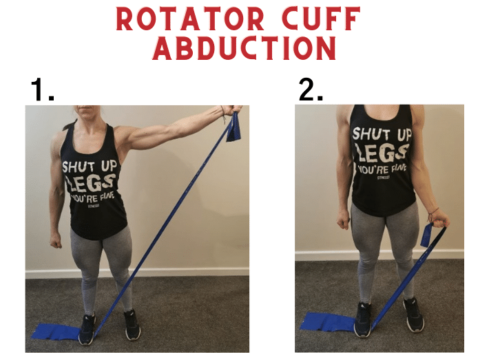 Exercises to prevent and treat swimmer's shoulder | Common injuries for runners and triathletes | Rotator cuff abduction