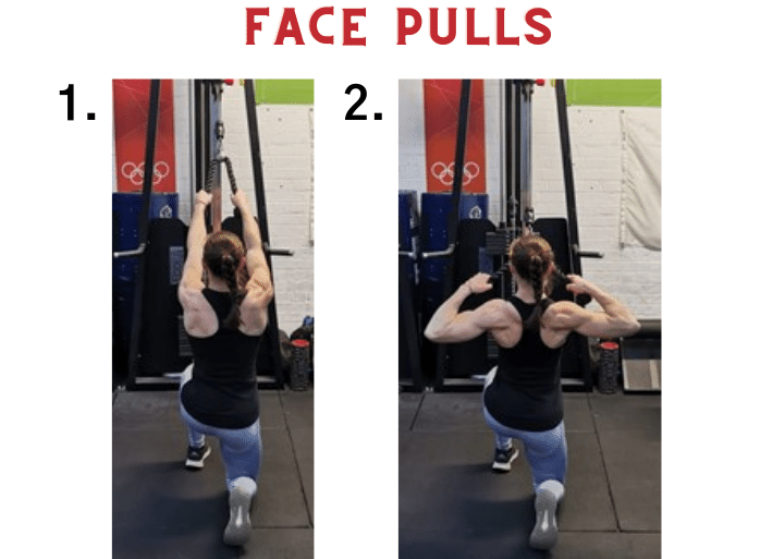 Exercises to prevent and treat swimmer's shoulder | Common injuries for runners and triathletes | Face pulls