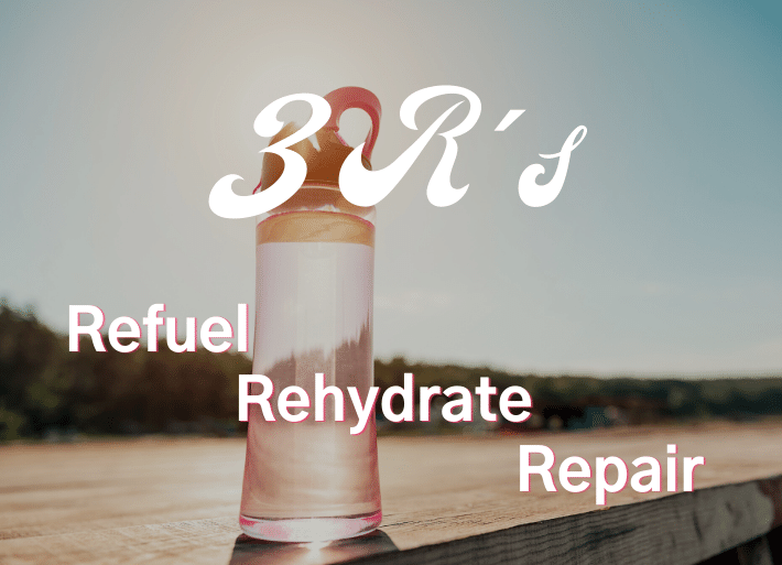 3 Rs of sports nutrition and hydration: Refuel, rehydrate, repair