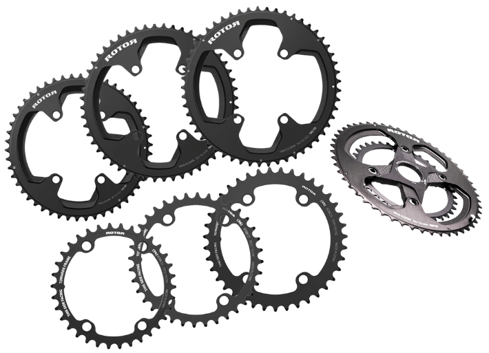 Rotor chain rings in a variety of sizes