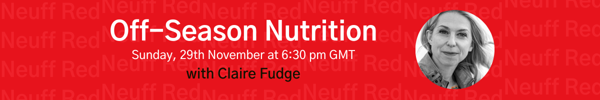 Black Friday 2020: Off-season nutrition with 4th Discipline & Neuff Red