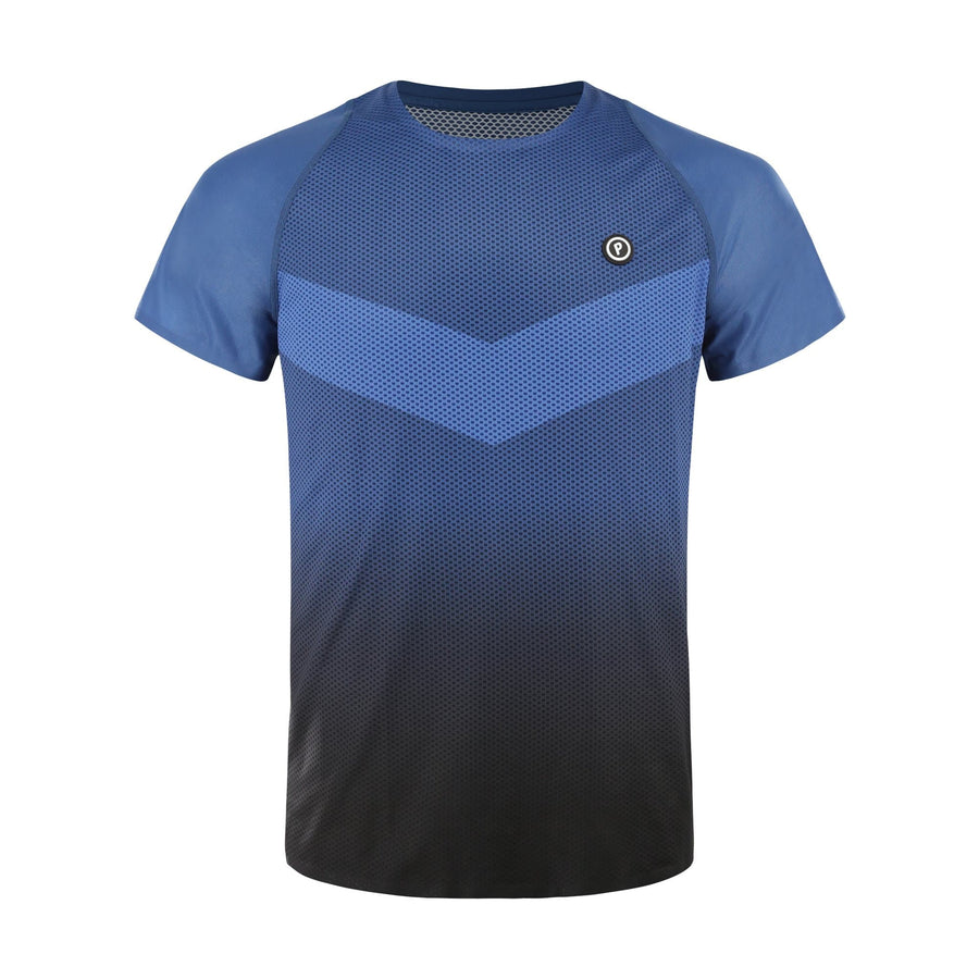 Purpose Pro Running T-Shirt for hot weather. Transcend blue. Front view