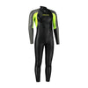 Dare2Swim Dare to swim tri wetsuit for triathlon. Men's. Front view. Black with yellow panels