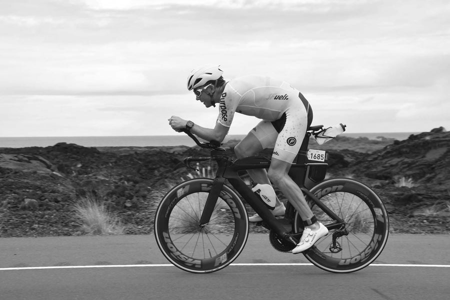 Dr Dan Plews sports scientist and founder of EndureIQ cycling in a triathlon