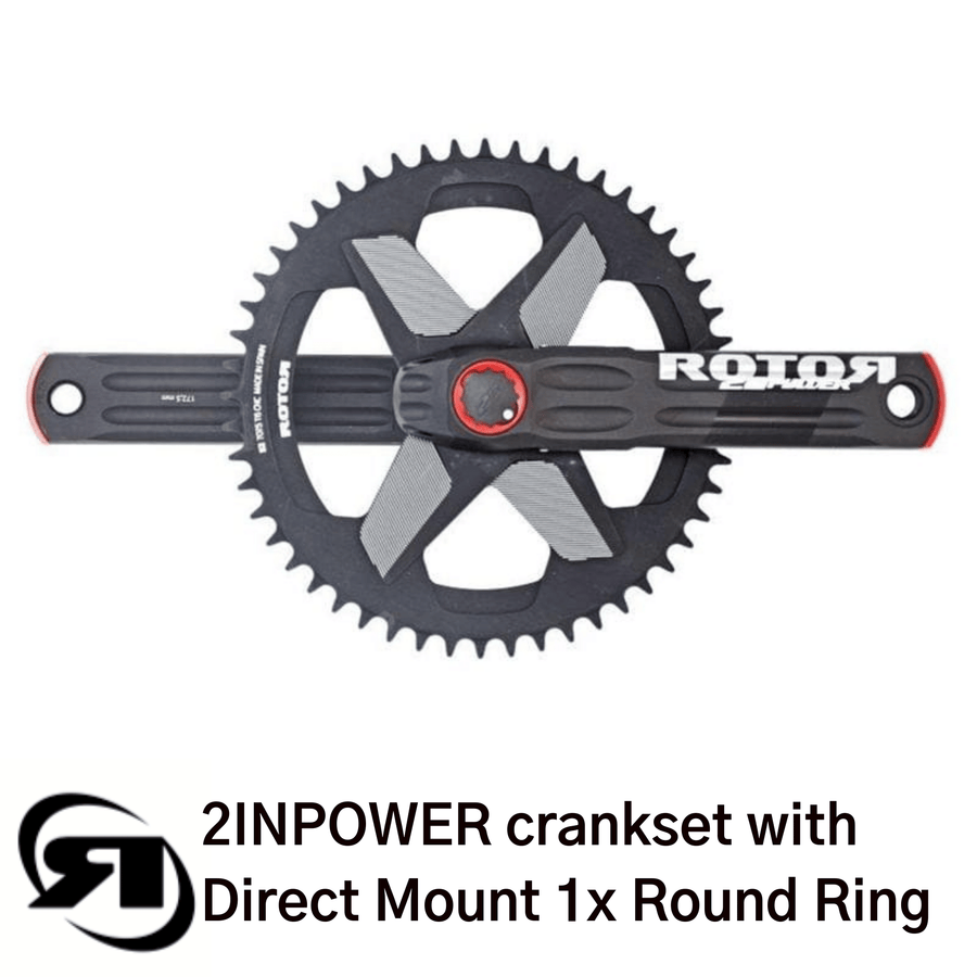 Rotor power meter | 2INPower Direct Mount | complete set up with 1x single round chainring