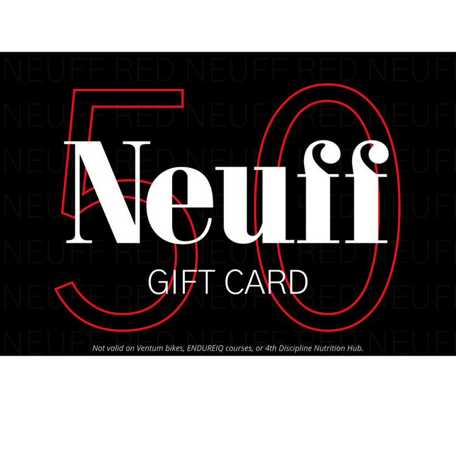 £50 Gift Card for triathlon and endurance products at Neuff Red