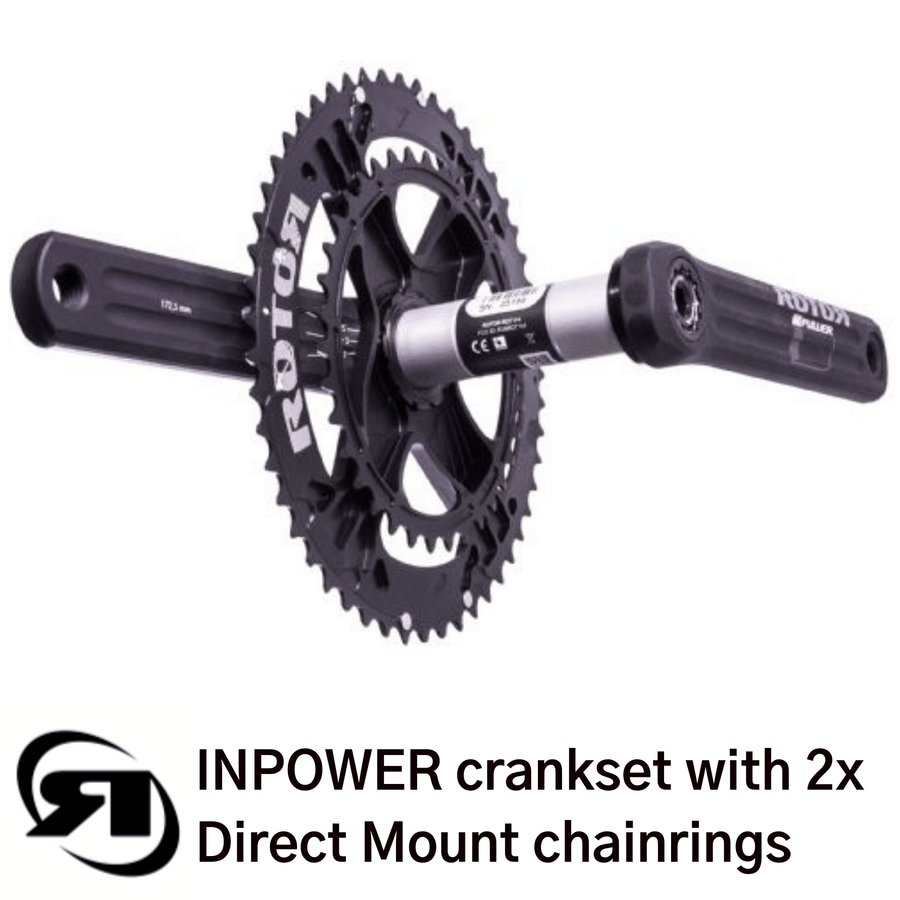 Rotor power meter | INPower Direct Mount | direct mount 2x chainrings - rear view