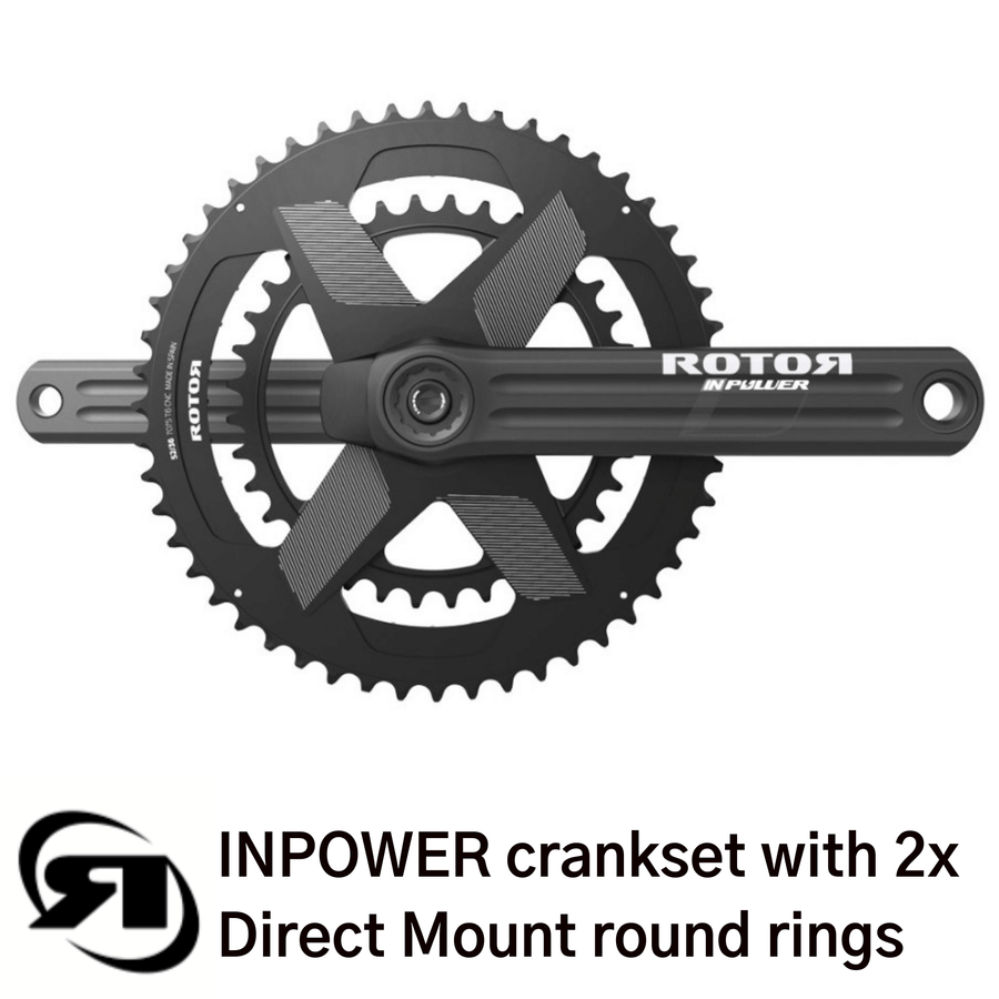 Rotor power meter | INPower Direct Mount | complete set up with 2x double round direct mount chainrings