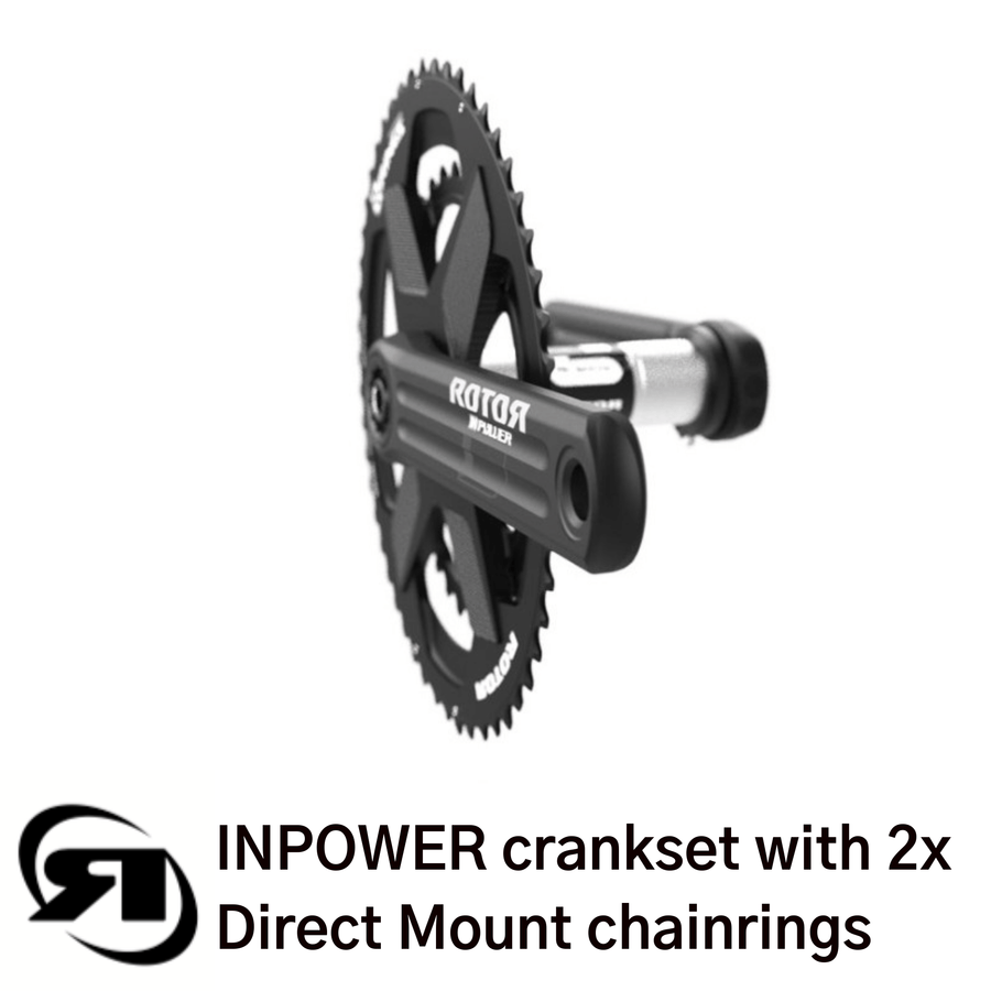 Rotor power meter | INPower Direct Mount | direct mount 2x chainrings - side view