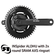 Rotor power meter | INSpider  | with ALDHU cranks & round ring | SRAM AXS