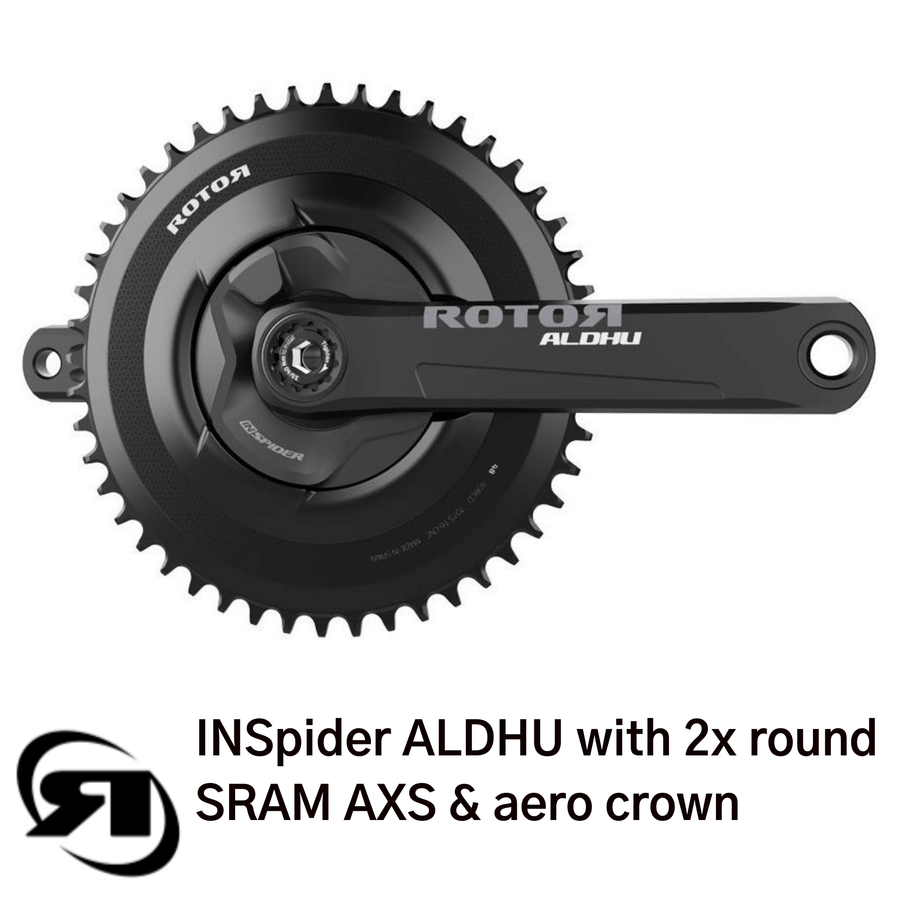 Rotor power meter | INSpider  | with ALDHU cranks, round ring & aero crown | SRAM AXS