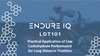 Endure IQ LDT 101 & logo over image of a triathlete cycling