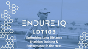 Endure IQ LDT 103 & logo over image of a triathlete running