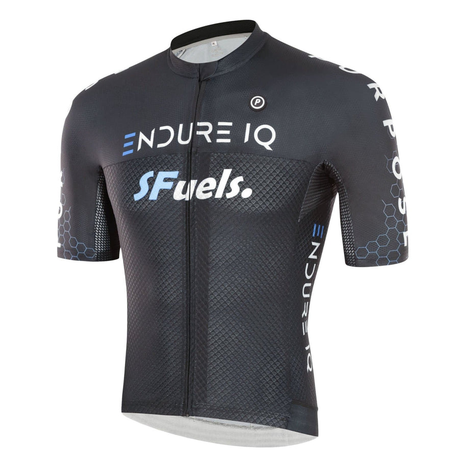 Purpose Elite Racing Cycling Jersey (Black) side view