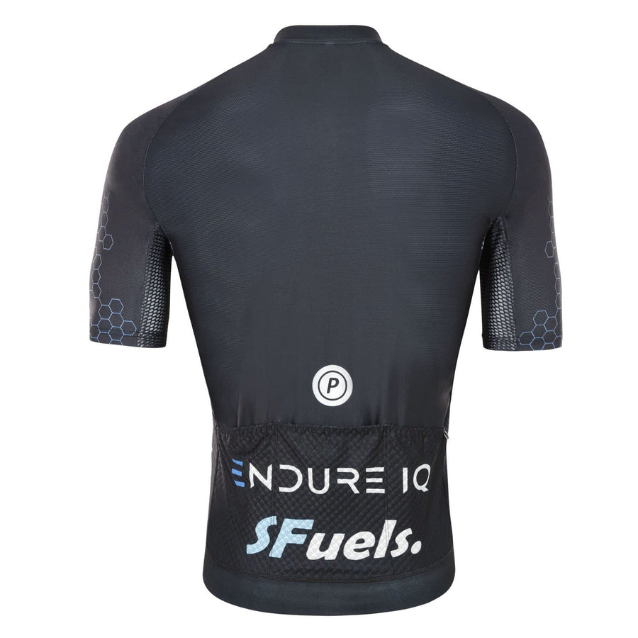 Purpose Elite Racing Cycling Jersey (Black) rear view