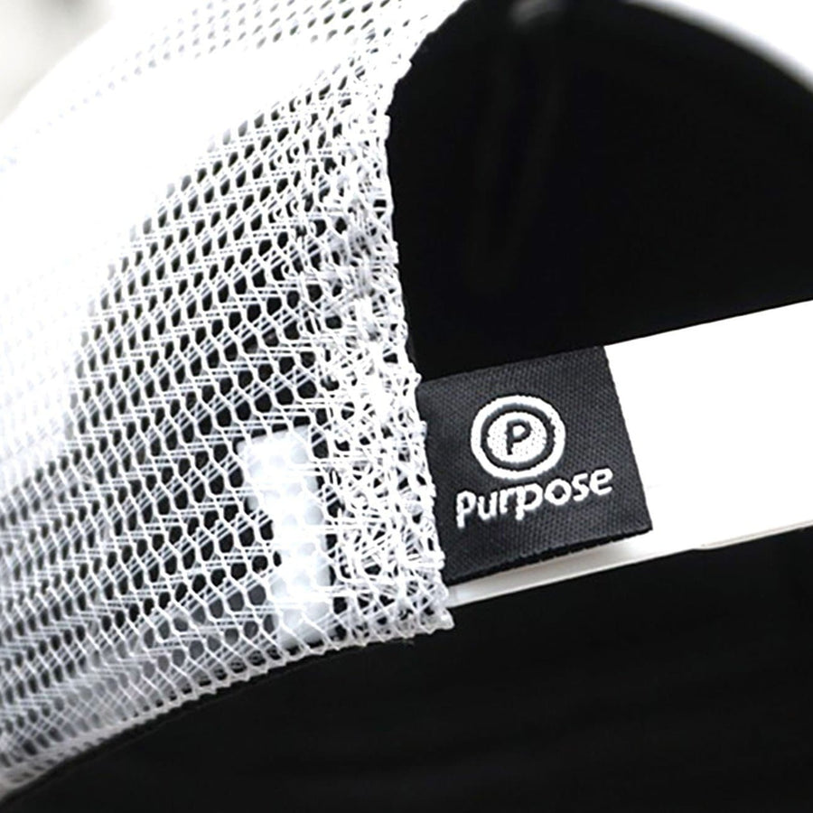 Purpose SFuels EndureIQ Run Cap. Back view. Black White