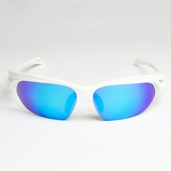 ND:R Sunglasses white frame with blue lenses