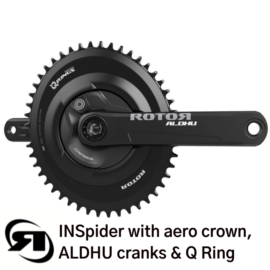 Rotor power meter | INSpider with aero crown, Q ring & Aldhu crank