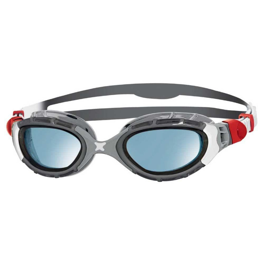 zoggs original predator flex swimming red goggles