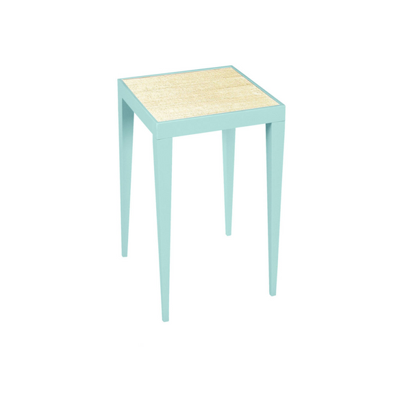 Cisco Side Table with Grasscloth