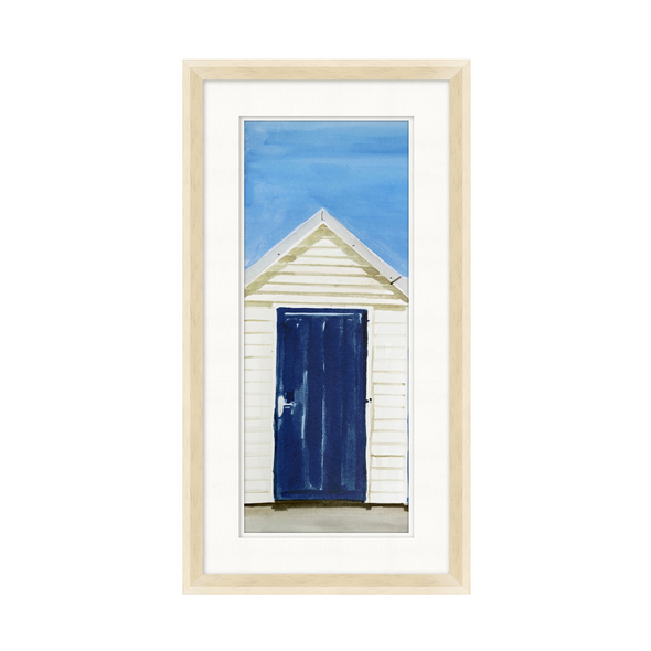 Blue Beach Hut Art